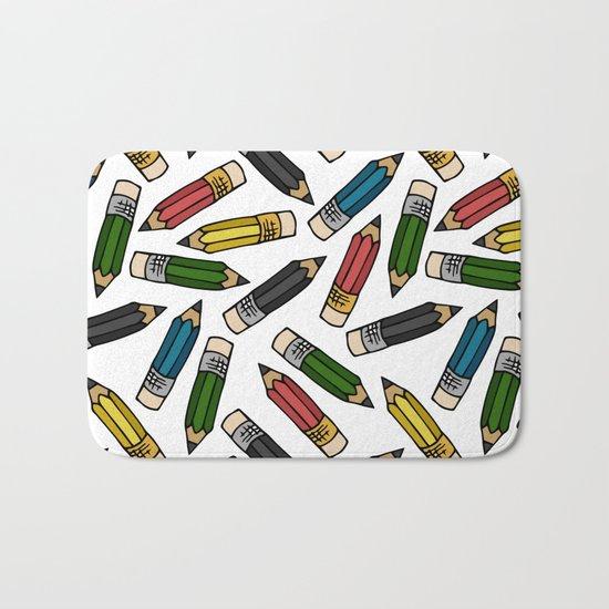 Pencils Bath Mat