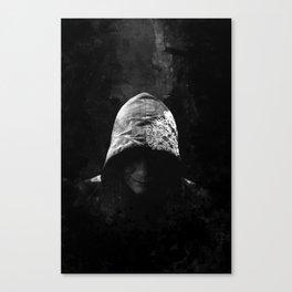 Victorian Assassin Hood - B&W Canvas Print