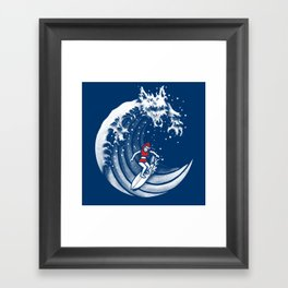 Little Red Surfing Hood Framed Art Print