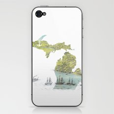 Ships Along the Shore - Michigan circa 1868 iPhone & iPod Skin