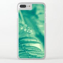 Funky Fern Clear iPhone Case