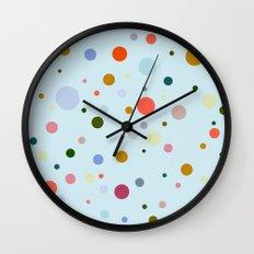 Blue Confetti Wall Clock