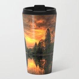 Golden Light On Loch Ard Travel Mug