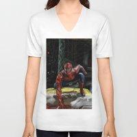 comic book V-neck T-shirts featuring comic by Fila Venom Art