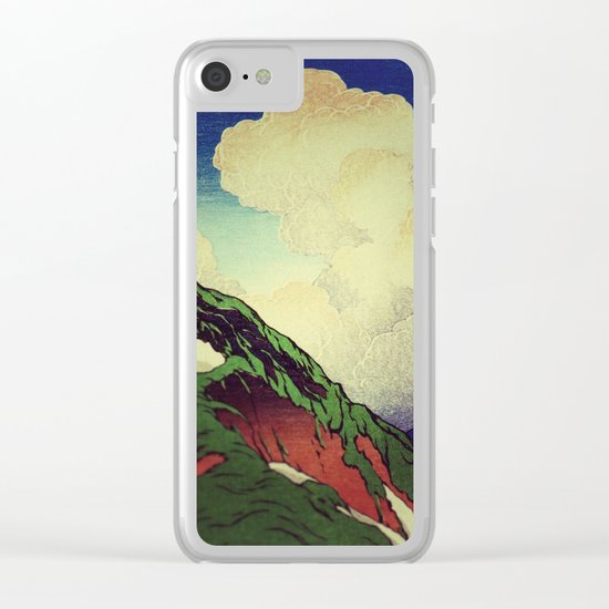 The Hike to Mt Harusan Clear iPhone Case