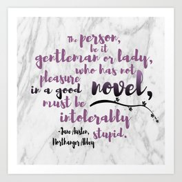 INTOLERABLY STUPID | JANE AUSTEN Art Print