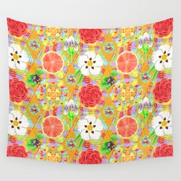 4160 Tuesdays Rainbow Botanicals Wall Tapestry