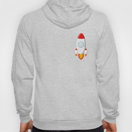 The rocket takes off isolated on a white background Hoody