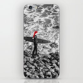 surf santa - beach thoughts iPhone Skin