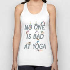 No One is Bad at Yoga Unisex Tank Top