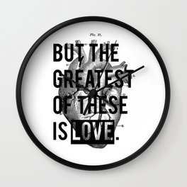Heart. Wall Clock