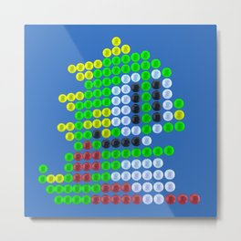Bubble Bobble bubbles Metal Print