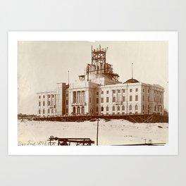 Construction of Rhode Island State House Art Print