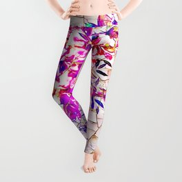 Stained Glass Flowers Leggings