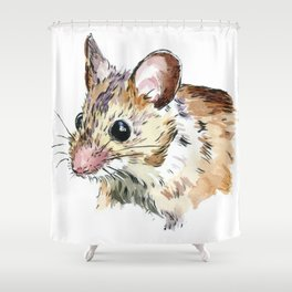 Little Brown Mouse Shower Curtain