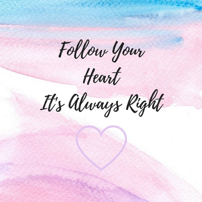 Follow your heart, its always right Comforters