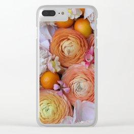 Flower Design 13 Clear iPhone Case
