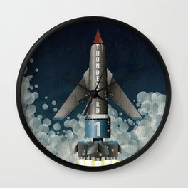 Thunderbird 1 Space Rocket Launch Wall Clock