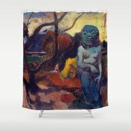 "Paul Gauguin ""Rave te hiti aamu (The Idol)"" Shower Curtain"