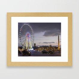 Wheel Concorde Paris Framed Art Print
