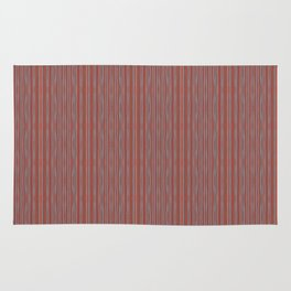 Grey and terracotta stripes Rug