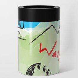 City scape - Seattle, Washington Can Cooler