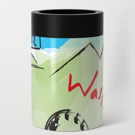 City scape - Seattle, Washington Can Cooler