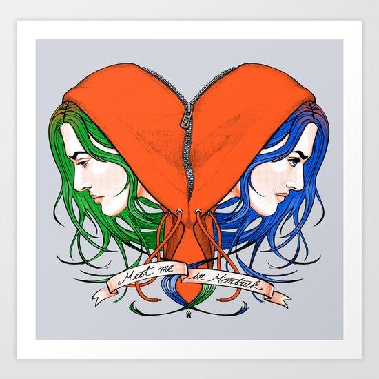 Clementine's Heart Art Print