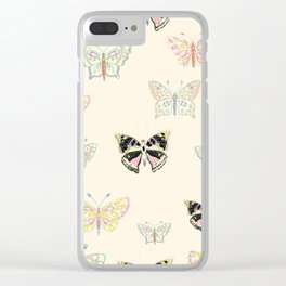 Petite Butterflies Collection Clear iPhone Case