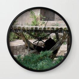 Lazy Bear in Hammock Wall Clock