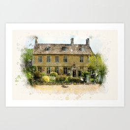 The Dial House, Bourton-on-the-Water Art Print