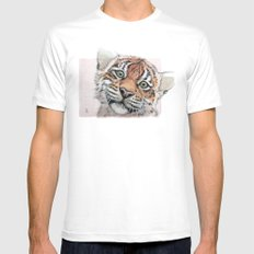 Tiger Cub 887 MEDIUM Mens Fitted Tee White