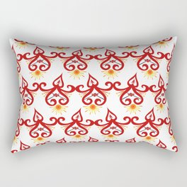 Firery Sprite Pattern Rectangular Pillow