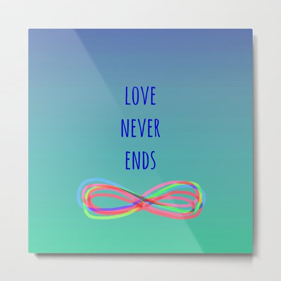 Love Never Ends (summer) Metal Print