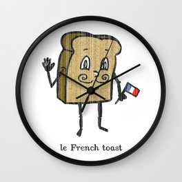 le French toast Wall Clock