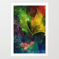 blanket Art Prints featuring Blanket of Stars 2 by Klara Acel