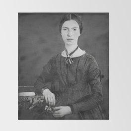 Emily Dickinson Portrait Throw Blanket