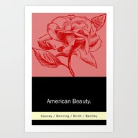 american beauty Art Prints featuring American Beauty  by Eric Drummond Smith