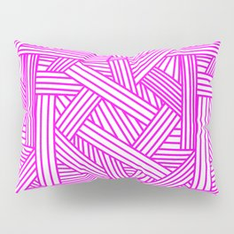Sketchy Abstract (Magenta & White Pattern) Pillow Sham