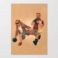 the big lebowski Canvas Prints featuring Big Lebowski by Dave Collinson
