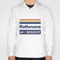 f1 Hoodies featuring Williams F1 Rothmans Ayrton Senna by Krakenspirit