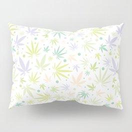 Cute Pastel Cannabis Pattern Pillow Sham