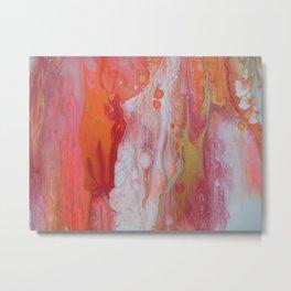 Modern art orange Metal Print