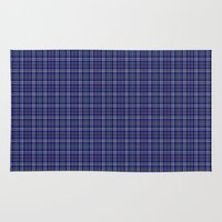 military Area & Throw Rugs featuring Citadel Military Acedemy Tartan by Paul James Farr