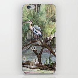 Mr. Blue Heron The Swamp Gatekeeper iPhone Skin