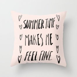 Summer Time Throw Pillow