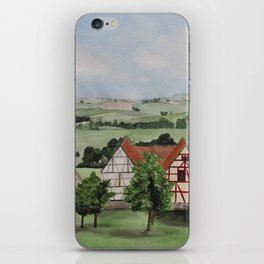 Swabian landscape with timbered houses iPhone Skin