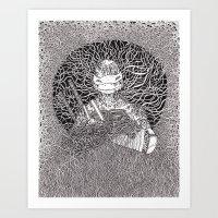 ninja turtle Art Prints featuring Ninja Turtle by OKAINA IMAGE