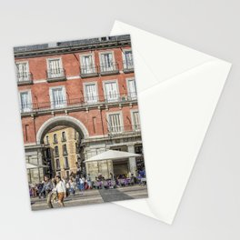 Relaxing cup in Plaza Mayor, Madrid Stationery Cards