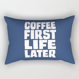 Coffee First Rectangular Pillow